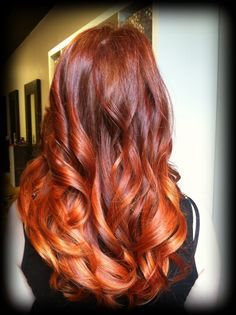 red copper balayage - Google Search