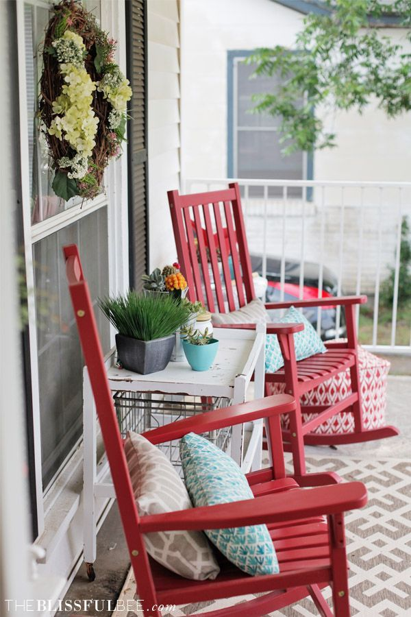 Summer Front Porch Refresh | The Blissful Bee