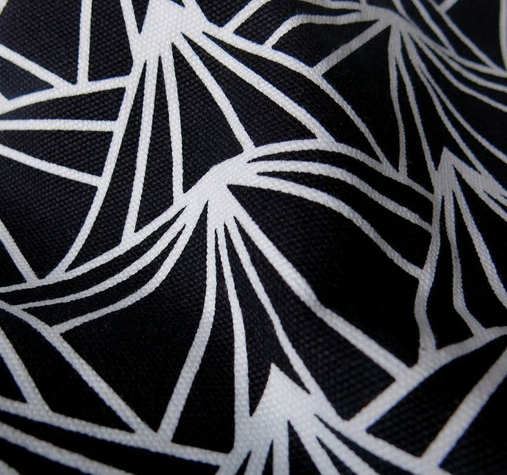 The Black Prism by LOOM. Silk-screen hand printed on imported oxford canvas. #loom #loomfabric #silkscreen #print #fabric #textile #canvas #oxford #indonesia #black #prism