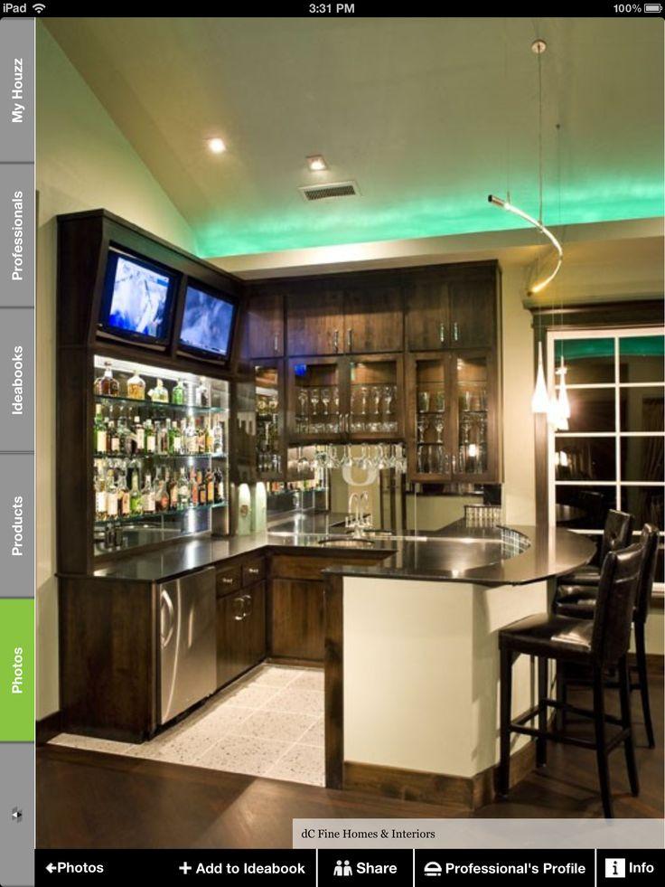 Great Bar Ideas For Your Media Room! Infinityu0027s U0027Webfoots Sports Baru0027    Contemporary   Media Room   Portland   DC Fine Homes U0026 Interiors
