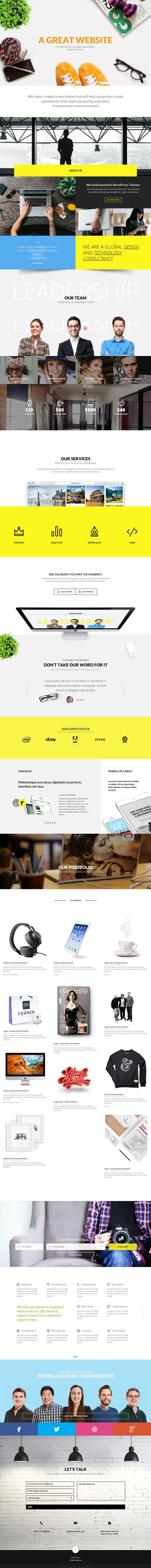 #yellow,modern, concept, layout, animation, #webdesign