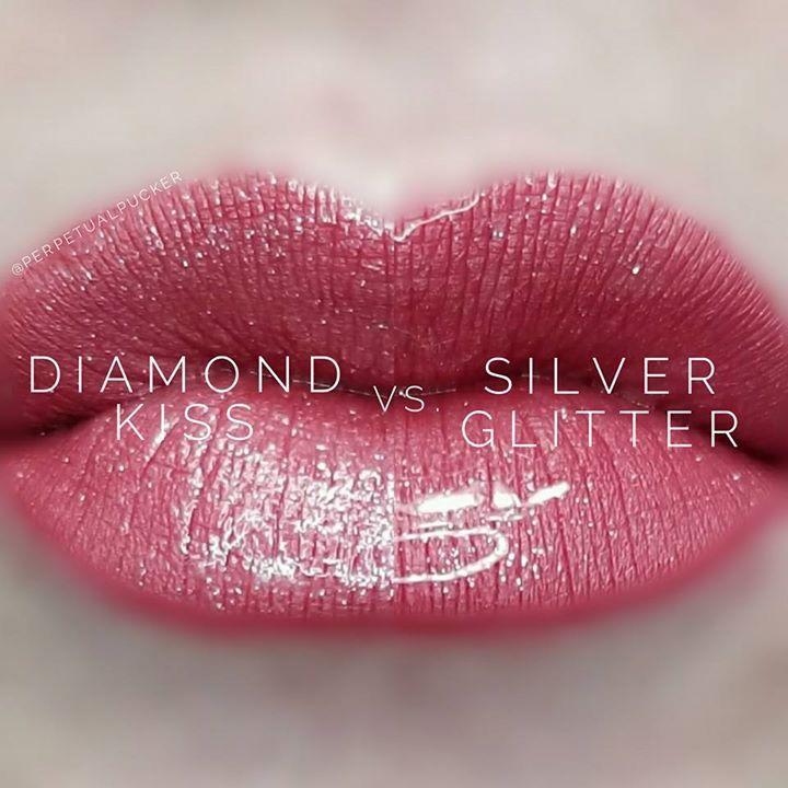 Diamond Glitter Diamond Kiss Gloss vs Silver Glitter Gloss ...