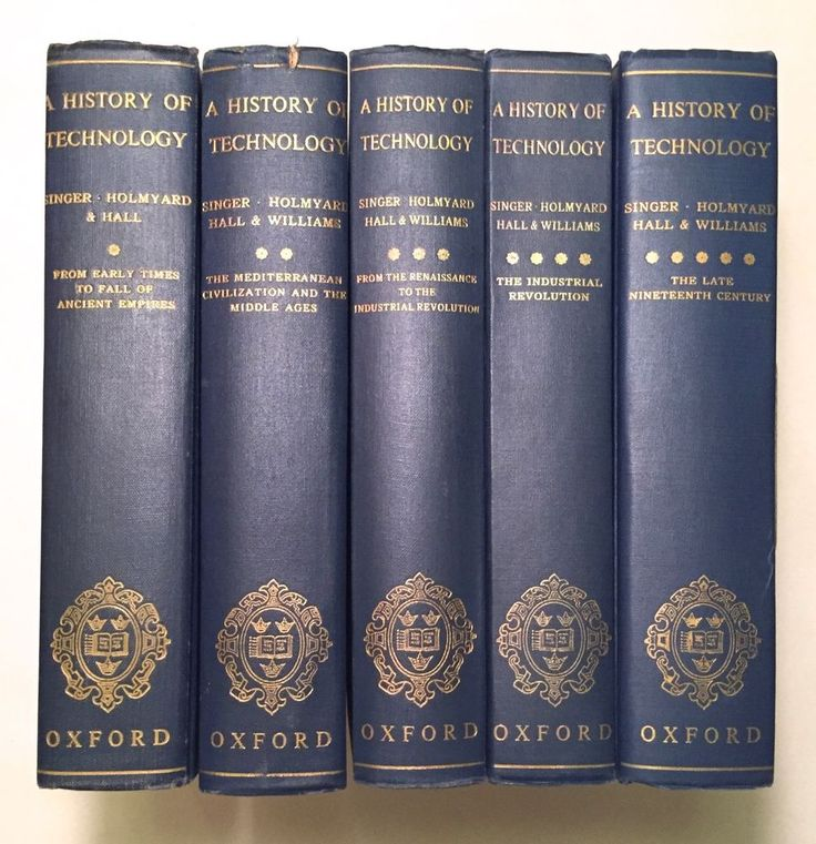 A History of Technology - Edited by Singer, 5 Volume Hardcover Set, Illustrated