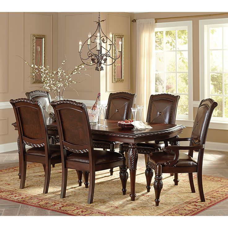 Steve Silver Antoinette Dining Arm Chairs   Cherry  Set Of 2   Whether Youu0027