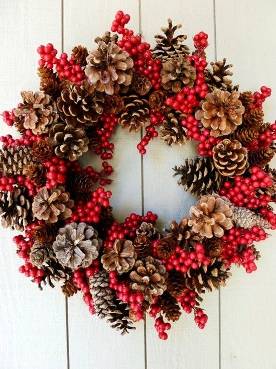 DIY pine cone decorations for 2015 Christmas - Fashion Blog