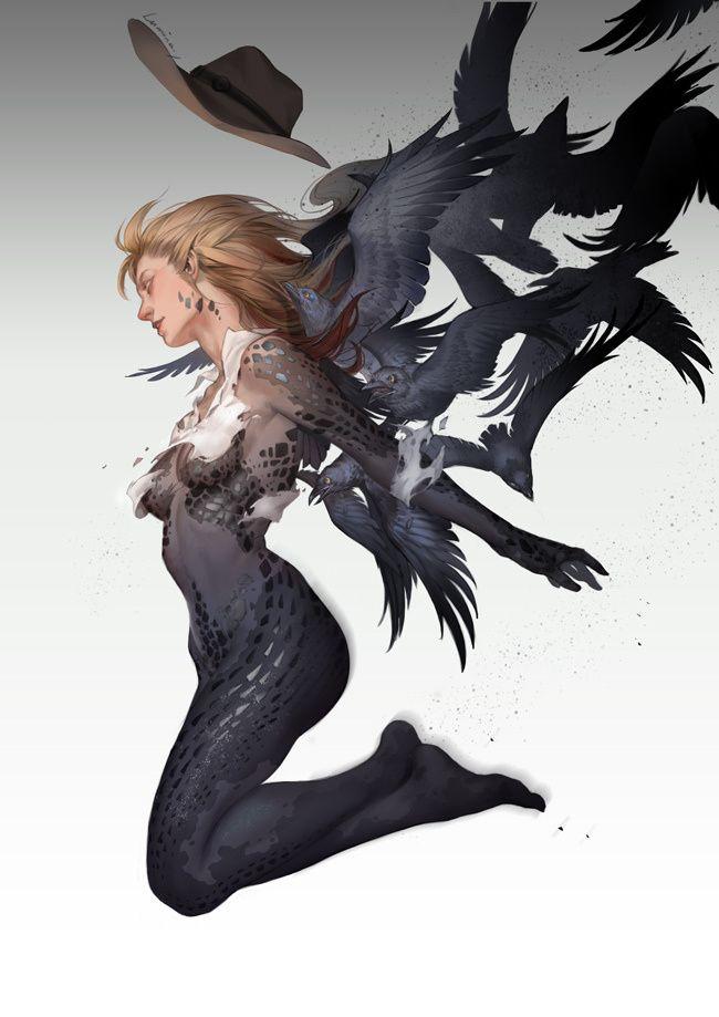 Gorgeous demon woman.