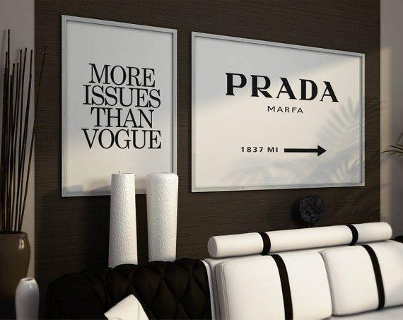 58dbd8d6b72f Prada marfa sign, More issues than vogue. Fashion Wall art, fashion set  posters, fas | Products in 2019 | Prada marfa, Fashion wall art, Fashio…