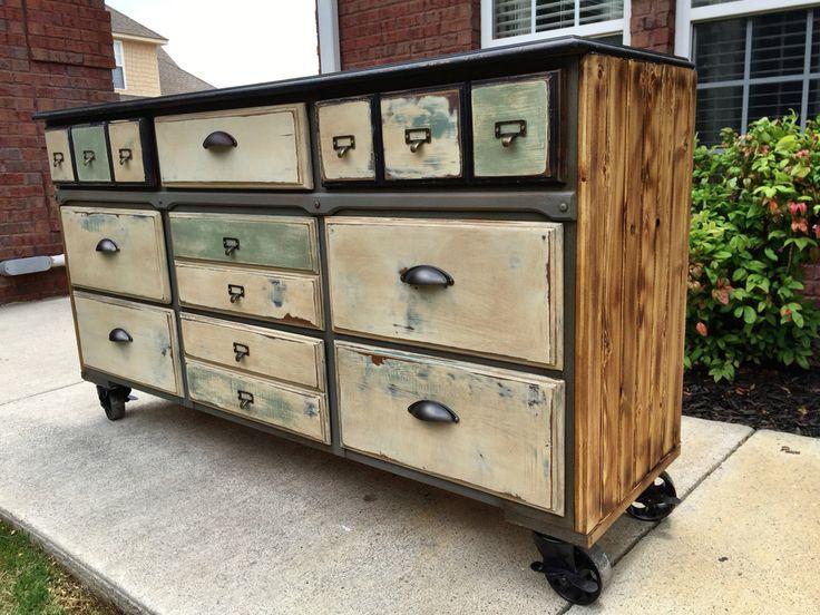 Industrial Dresser on vintage casters