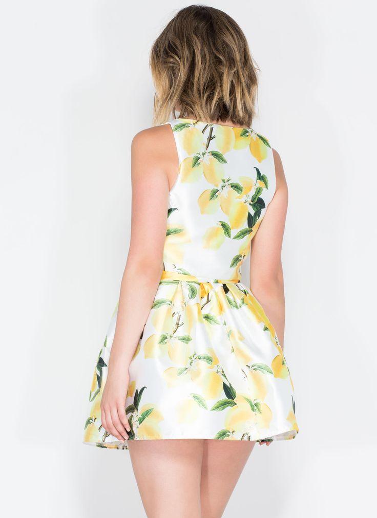 Making Lemonade Lemon Tree Skater Skirt YELLOW