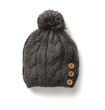 If winter must come I must be prepared   Cable Knit Hat $12