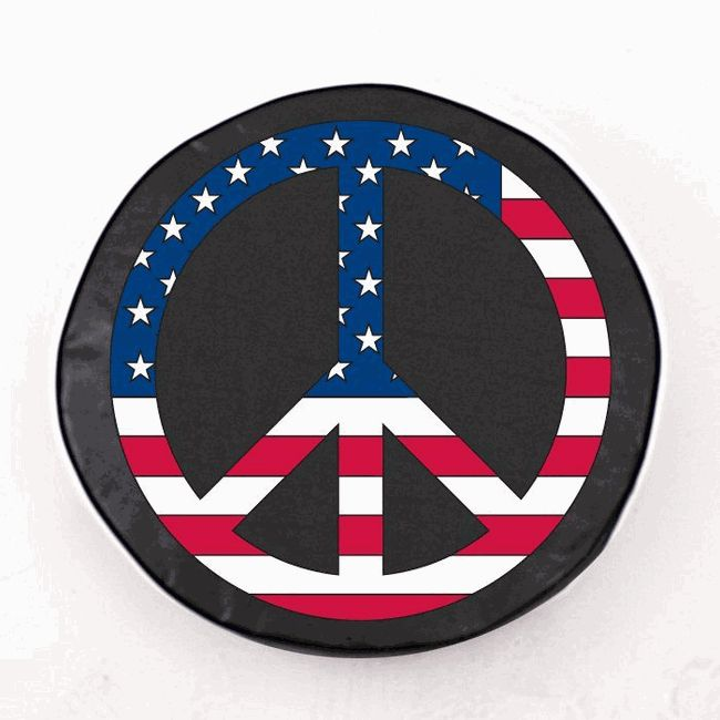 All Things Jeep - USA Peace Sign Tire Cover, Style 1