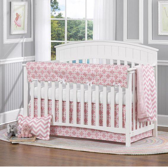 Pink Metro 4 Pc. Crib Bedding Set