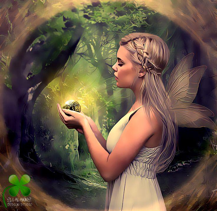 My Light ... #ellalanne #ellalannedesignstudio #digitalart #digitalpainting #artist #designer #creative #photomanipulation #fairy #fairywings #fantasy #fantasyscene #forrest