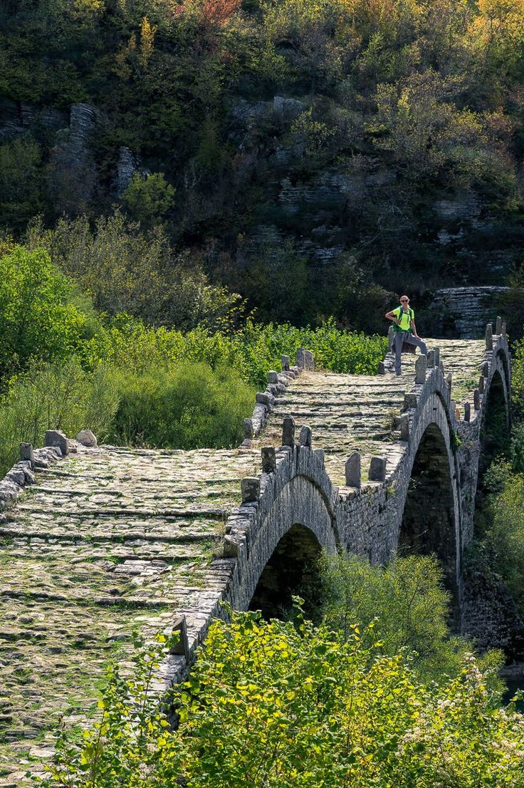 We hike from Kipi to Dilofo through green forests and across some of the most famous and beautiful stone bridges in Zagori. via @Trip & Trail