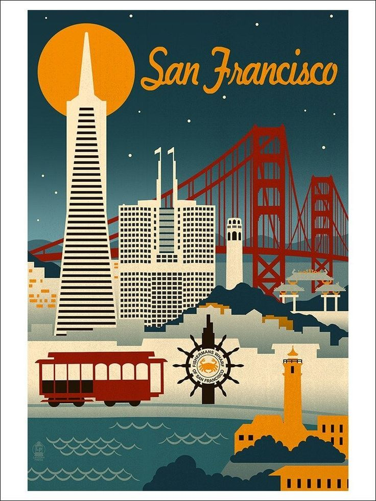 Retro Skyline | San Francisco, California