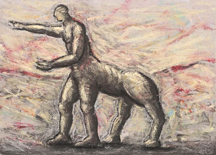 Peter Booth (Australian, b. 1940), Drawing (Centaur), 1986.