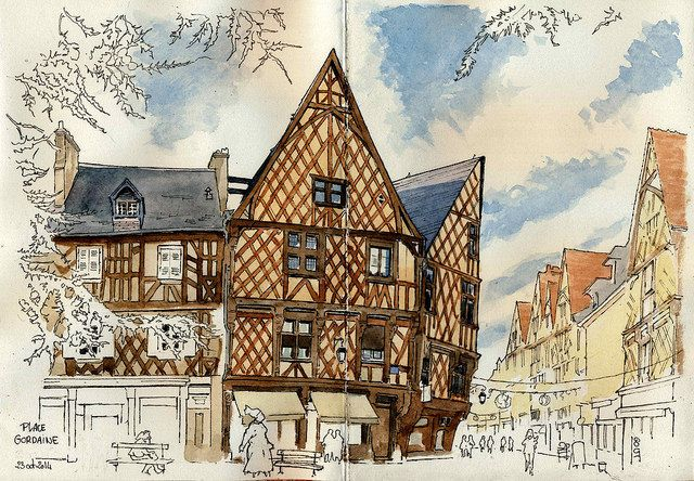 Croquis de Bourges de Catherine Gout