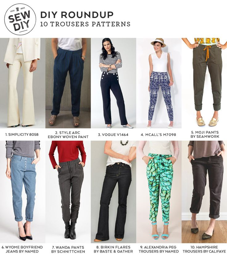 10 Trousers Sewing Patterns for Spring   Sew DIY   Bloglovin'