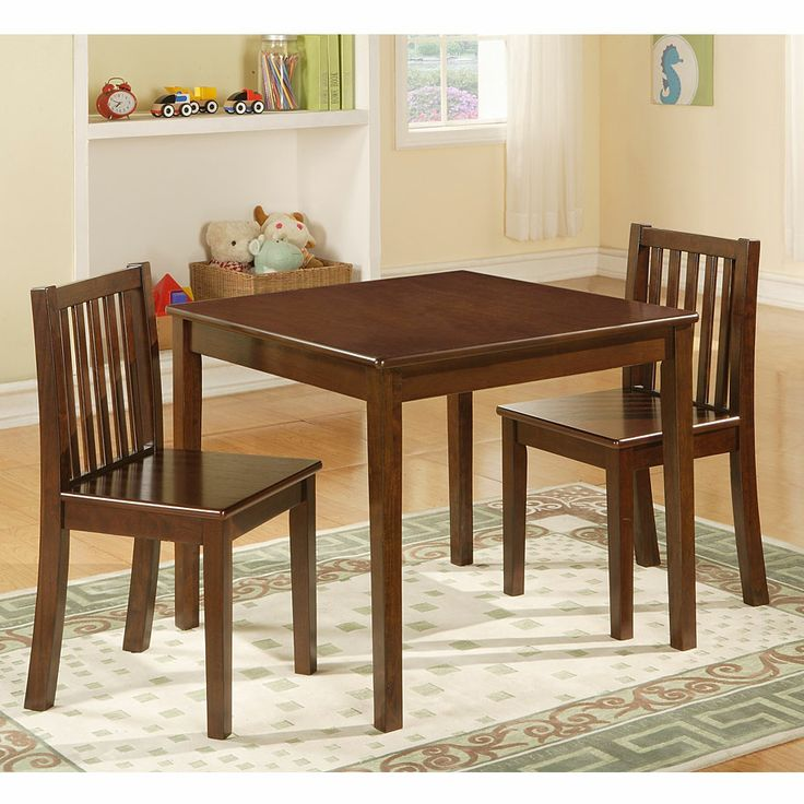3 piece wood kiddie table chair set at big lots kid