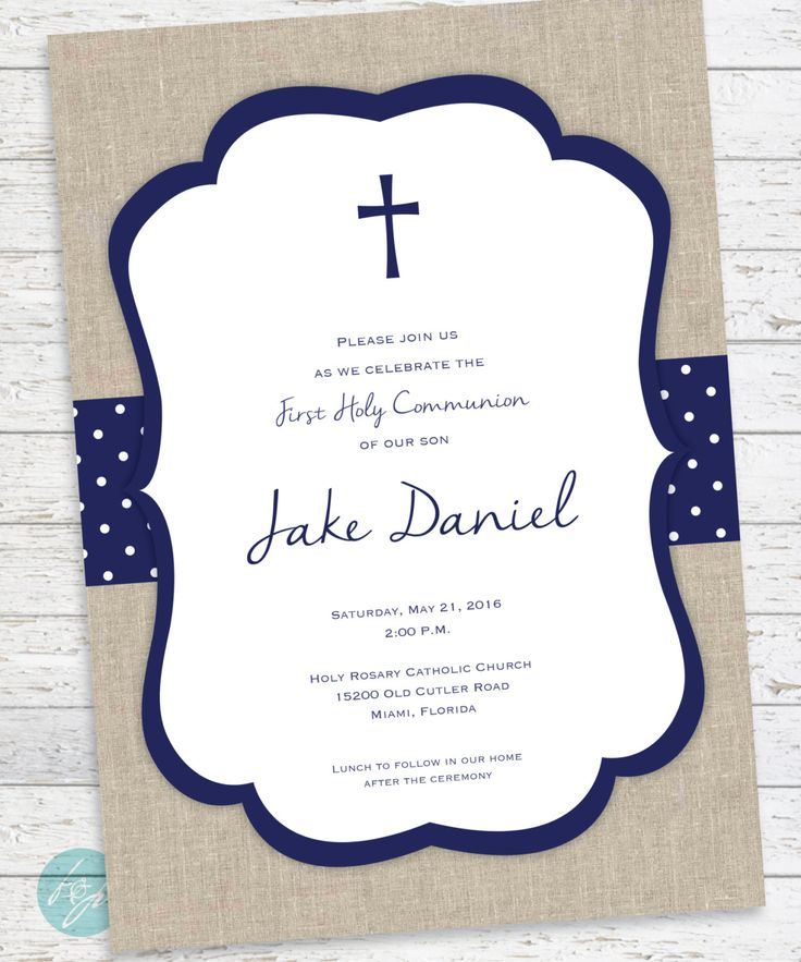 25 best Holy communion invitations ideas – First Communion Invitation Cards
