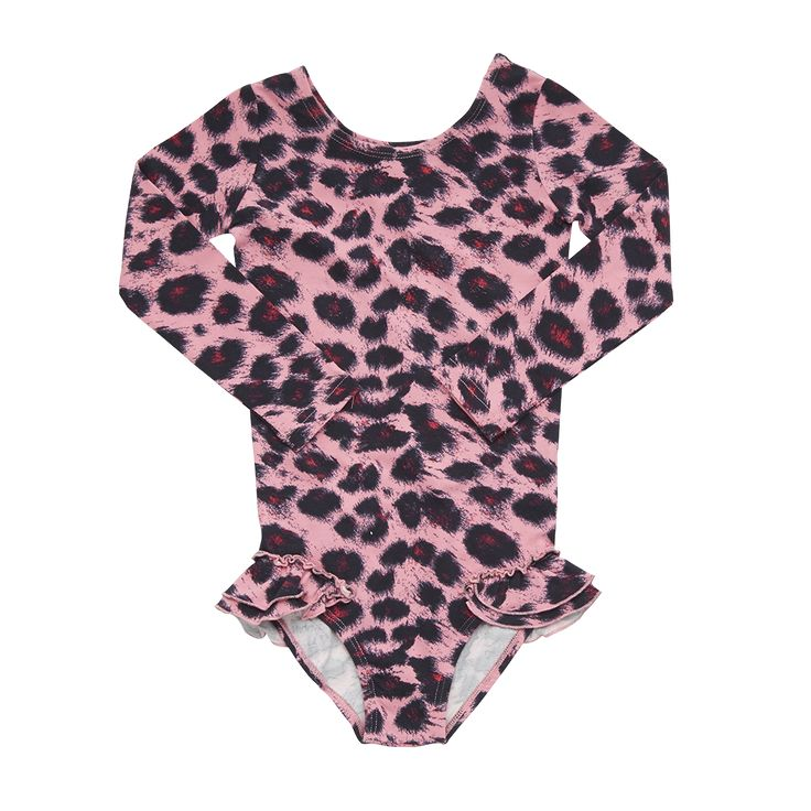 Rock Your Baby - Pink Leopard Leotard