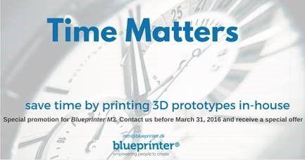 Blueprinter 3D-tulostimen ostajalle jokin näistä valinnan mukaan, voimassa 31.3.2016 asti. *12kg M-Flex extra jauhetta  *6kk jatkettu takuu  *asennus veloituksetta  http://www.an-cadsolutions.fi/koneet-ja-laitteet/blueprinter-3d-tulostin/