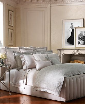 Ralph Lauren Fleur Du Roi Vintage Silver Collection   Bedding Collections    Bed U0026 Bath