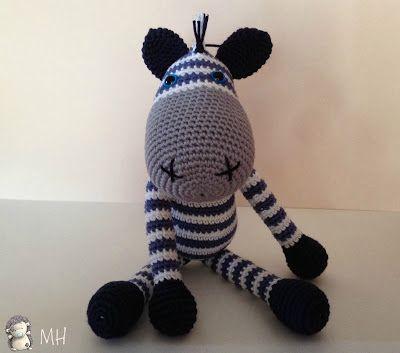 Amigurumi Zebra Hakeln : Zebra amigurumi. Gratis opskrift H?klet dyr. Pinterest ...