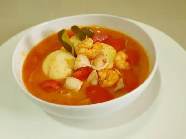 Resep Tomyam Seafood Campur Pedas Oleh Marlina Rosa Resep Di 2020 Makanan Udang Rebusan