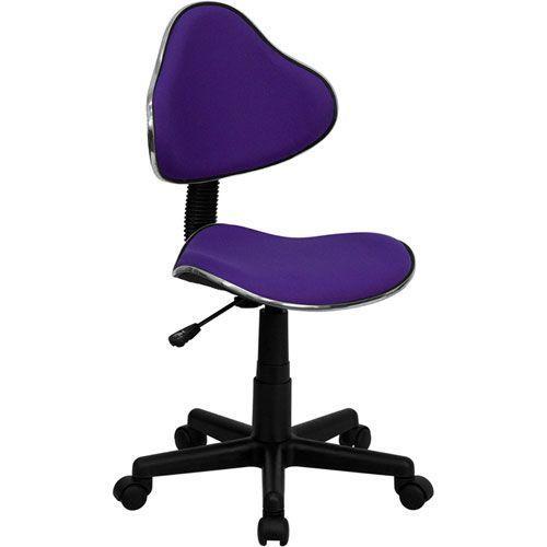 Purple Fabric Ergonomic Swivel Task Chair