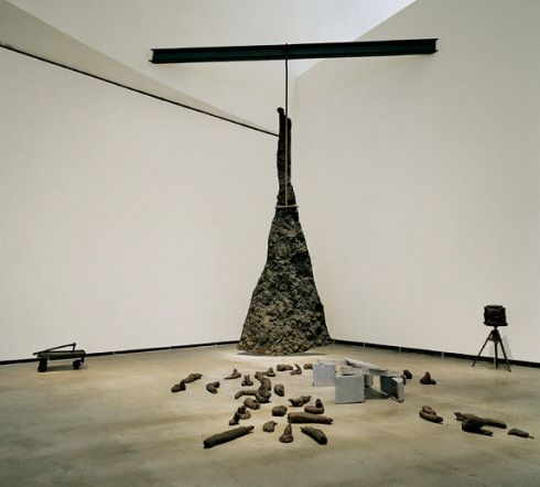 Lightning with Stag in its Glare - Joseph Beuys (1958- 1985) Luckily got to see this at Portland Museum of Art (on loan from Guggenheim, Bilbao)