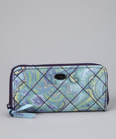 """I've been needed a new wallet and will try a """"women's"""" type this time instead of my old leather men's tri-fold - i bought this cute Paisley Wallet by Donna Sharp Handbags on @zulily today!"""