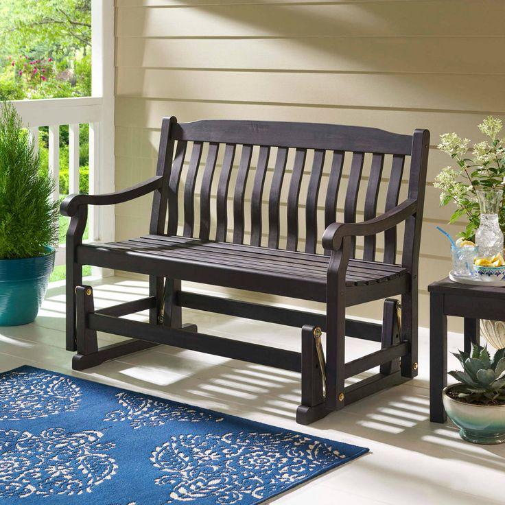 Outdoor Patio Glider Bench Rocker Loveseat Porch Deck Wooden Swing Furniture 4ft #Unbranded