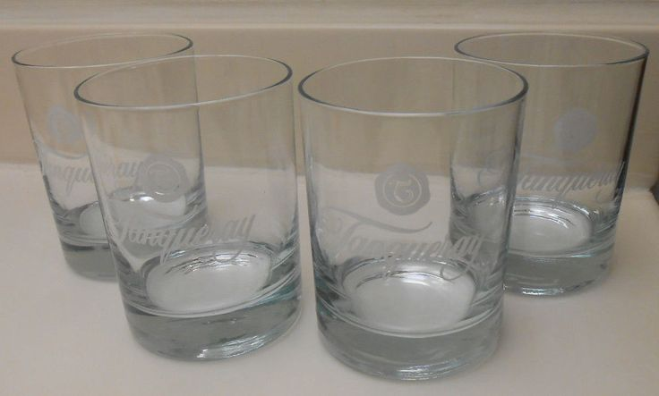 Set of 4 Tanqueray Gin Liquor Glasses