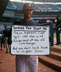 A message for Jamie Moyer: Atlanta Brave Humor, Favorite Sports, Dobrav Chipperjon, Baseb Funny Quotes, Brave Country, Fans, Favorite Quotes, Chipper Jones'S, Georgia Peaches