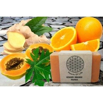 Buy Swati Handmade Soaps - Buy Natural Handmade Soaps - Buy Swati Soaps Ginger Papaya Orange Soaps | ShopHealthy.in