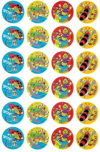 Sporty Bugs Merit Stickers