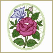 Rose Lace Medallion Embroidery Design