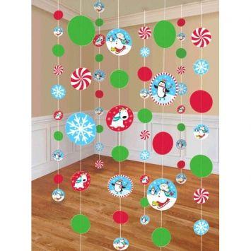 Joyful Snowman Paper String Decorations! #Christmas #decorations