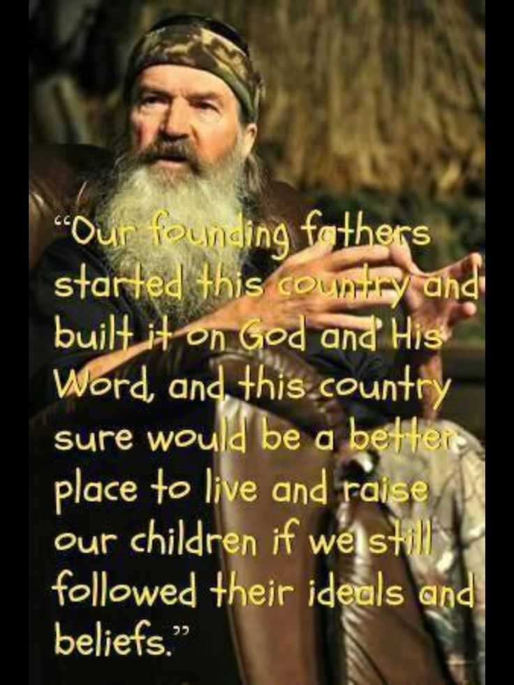 Amen, Phil... No wonder this country is falling apart now...