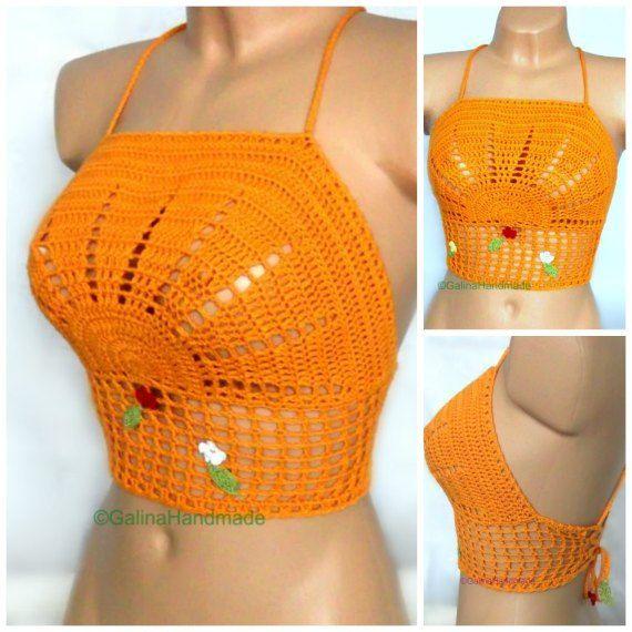 Summer Crochet Top Halter Top  Tank Top Crochet от GalinaHandmade