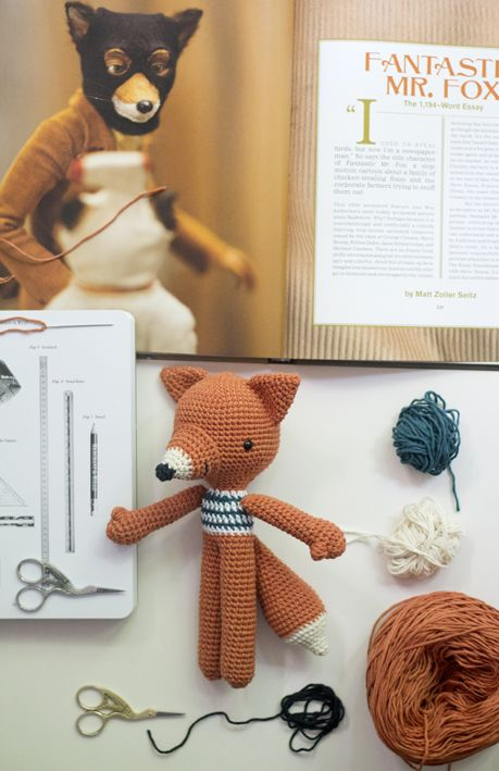 Lucas Fox amigurumi pattern by pica pau