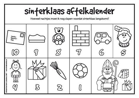 Aftelkalender Sinterklaas 5 december
