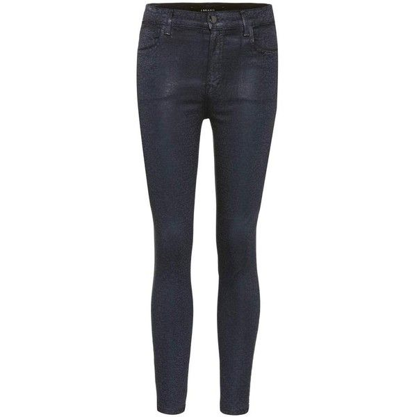 High waisted skinny jeans zwart