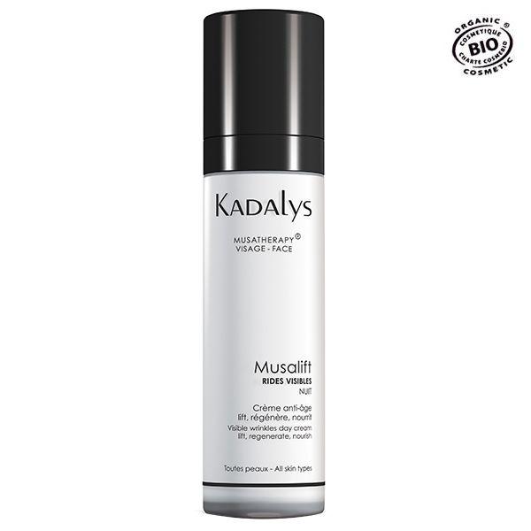 Kadalys Musalift Organic Night Cream Anti-wrinkle visible with yellow banana