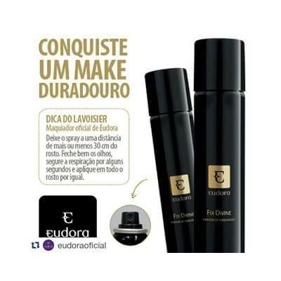 Eudora Fix Divine Spray Fixador De Maquiagem Antioxidante - R$ 41,99