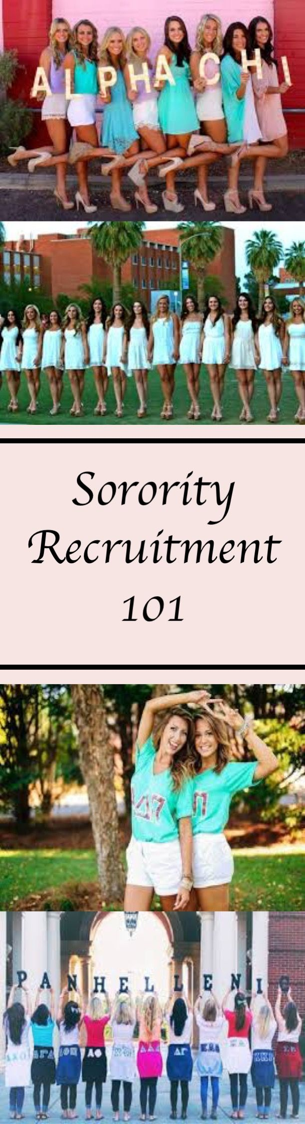 Everything you need to know to get through Sorority Recruitment! Outfits, Conversation, Tips, and More! #sorority #recruitment #rush #greek #college #backtoschool #phimu #chio #detlazeta #zeta #wardrobe #clothing #ootd #outfit #styleoftheday #fashionbloggers #fashionblog #beautybloggers #fblogger #fbloggers #bbloggers #style #styling #fromwhereistand #onlineshopping #haul #outfitoftheday #styleblogger  #fashionblogger #whatiwore #fashiondiaries #outfitideas #outfitinspiration #stylegram…