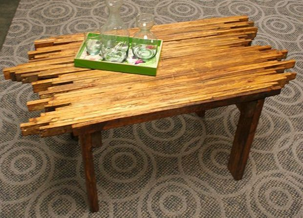 Picture of Pallet Coffee Table http://www.instructables.com/id/Coffee-Table-from-Pallet/