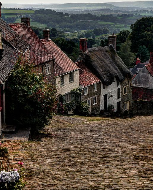 Gold Hill in Shaftesbury, Dorset, England, this is where mum always wanted to live and very nearly did!