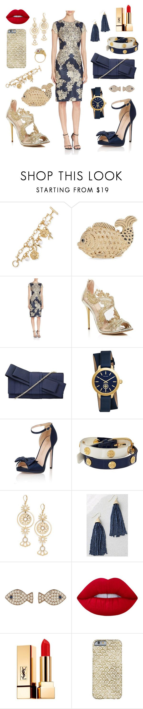 """Rent Frock Repeat for the Waterkeeper Gala Toronto"" by maryrosemclennan on Polyvore featuring Oscar de la Renta, Tasha, David Meister, John Lewis, Tory Burch, Little Mistress, Kate Spade, LULUS, Latelita and Lime Crime"